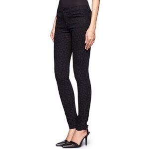 Banana Republic Black Leopard Print Skinny Jeans